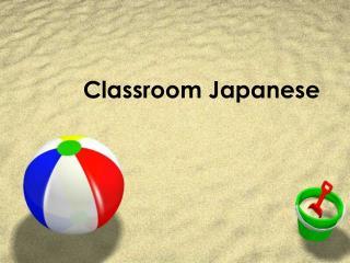 Classroom Japanese