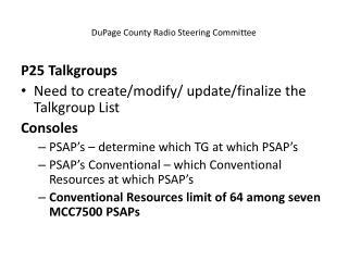 DuPage County Radio Steering Committee