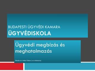 Budapesti �gyv�di Kamara �GYV�DISKOLA