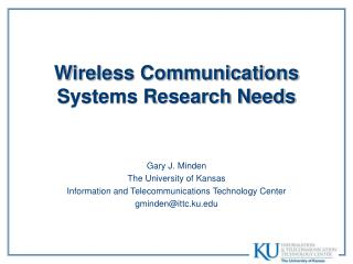 Wireless Communications Systems Research Needs