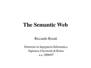 The Semantic Web