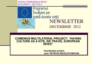 NEWSLETTER DECEMBRIE  2012
