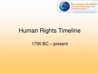 Human Rights Timeline 1795 BC � present