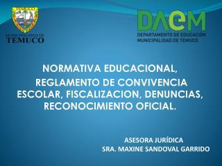 NORMATIVA EDUCACIONAL,