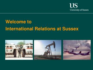 Welcome to  International Relations at Sussex
