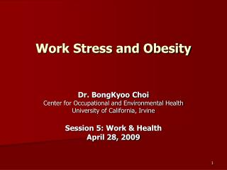 Work Stress and Obesity