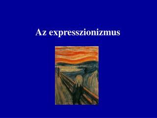 Az expresszionizmus