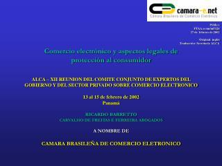 Comercio electrónico y aspectos legales de  protección al consumidor