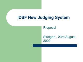 IDSF New Judging System