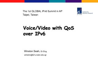 Voice/Video with QoS over IPv6