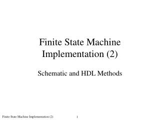Finite State Machine Implementation 2