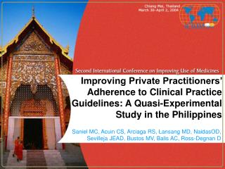 Improving Private Practitioners'