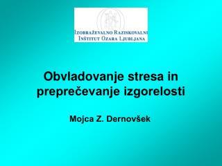 Obvladovanje stresa in preprečevanje izgorelosti