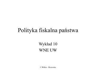 Polityka fiskalna państwa