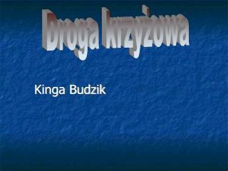 Kinga Budzik
