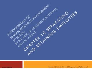 Chapter 10 separating and retaining employees