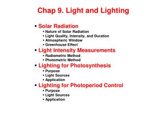 Chap 9. Light and Lighting