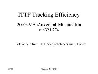 ITTF Tracking Efficiency
