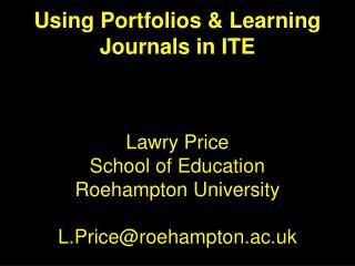 Portfolios & Learning Journals