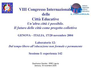 VIII Congresso Internazionale  delle