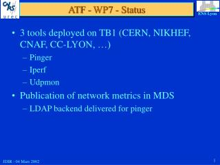 ATF - WP7 - Status