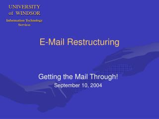 E-Mail Restructuring