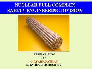 NUCLEAR FUEL COMPLEX SAFETY ENGINEERING DIVISION