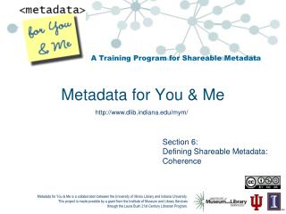 Metadata for You & Me