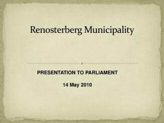 Renosterberg Municipality