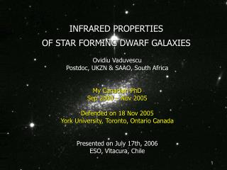 INFRARED PROPERTIES OF STAR FORMING DWARF GALAXIES