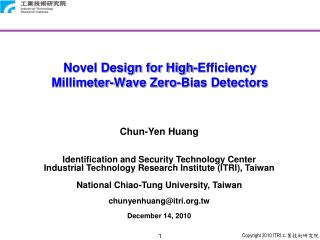 Novel Design for High-Efficiency  Millimeter-Wave Zero-Bias Detectors