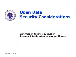 Open Data Security Considerations