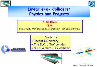 Linear e+e- Colliders:  Physics and Projects