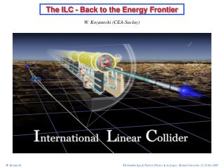 The ILC - Back to the Energy Frontier