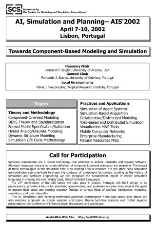 AI, Simulation and Planning– AIS'2002 April 7-10, 2002 Lisbon, Portugal