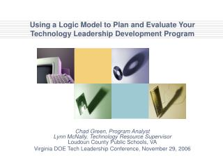 Using a Logic Model to Plan and Evaluate Your Technology Leadership Development Program
