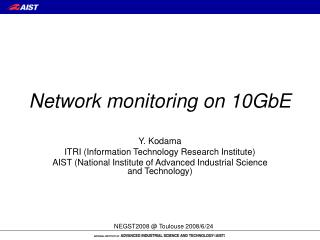 Network monitoring on 10GbE