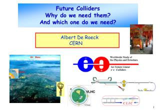 Future Colliders  Why do we need them? And which one do we need?