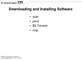 Downloading and Installing Software