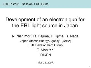 Development of an electron gun for the ERL light source in Japan