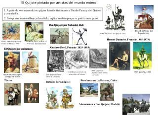 Don Quijote por Salvador Dalí