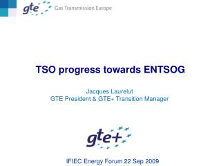 TSO progress towards ENTSOG