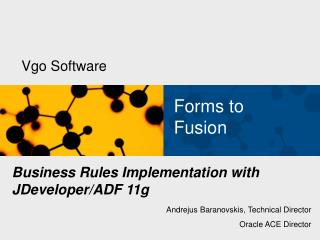 Business Rules Implementation with JDeveloper/ADF 11g