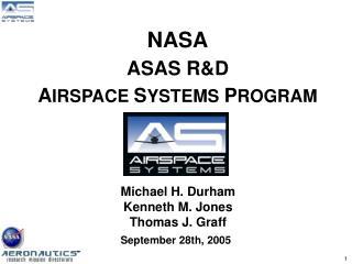 NASA ASAS RD AIRSPACE SYSTEMS PROGRAM