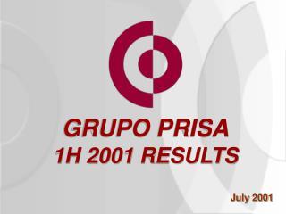 GRUPO PRISA 1H 2001 RESULTS