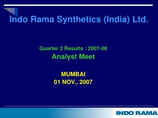 Indo Rama Synthetics (India) Ltd.