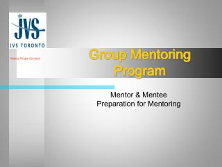 Group Mentoring Program