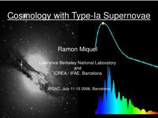 Cosmology with Type-Ia Supernovae