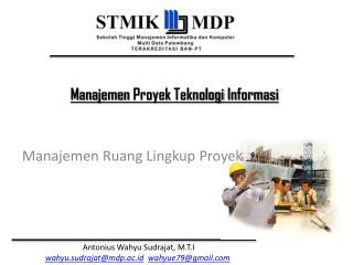 Manajemen Ruang Lingkup Proyek
