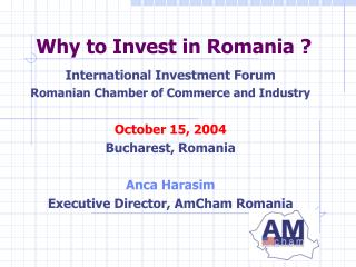 Why to Invest in Romania ?